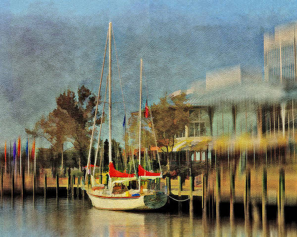 Sailboat Poster featuring the photograph Docked by Kathy Jennings