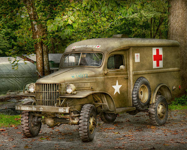 Ambulance Poster featuring the photograph Doctor - Mash Unit by Mike Savad