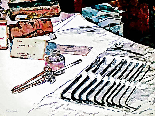 Druggist Poster featuring the photograph Doctor - Medical Instruments by Susan Savad