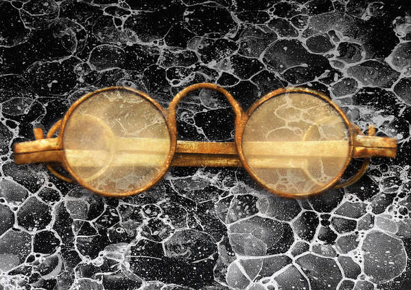 Suburbanscenes Poster featuring the photograph Doctor - Optometrist - Glasses Sold Here by Mike Savad