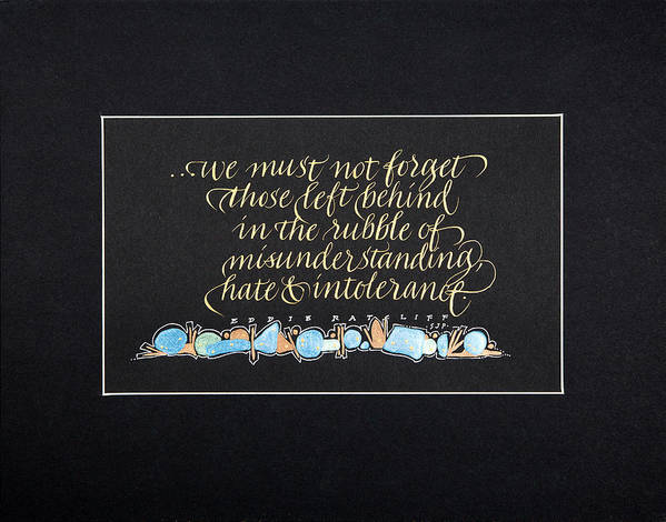 Calligraphy Poster featuring the mixed media Don't Forget... by Sally Penley