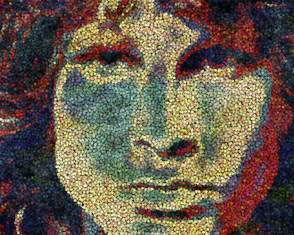 James Poster featuring the painting Doors Jim Morrison by Jack Zulli