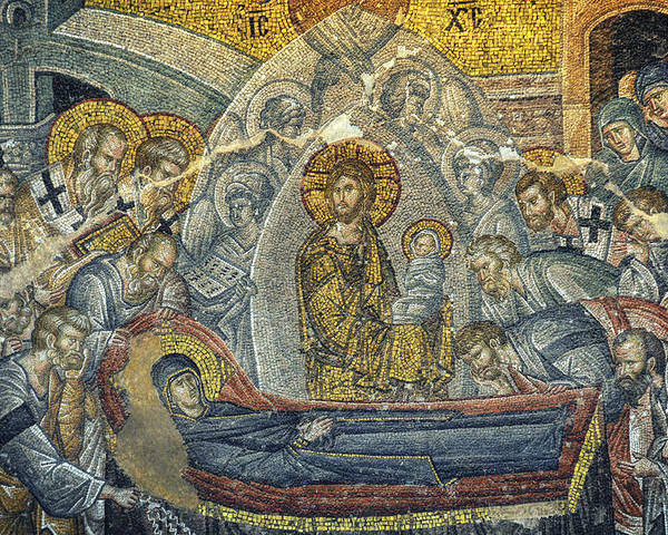 Jesus Poster featuring the photograph Dormition Of The Virgin by Taylan Apukovska
