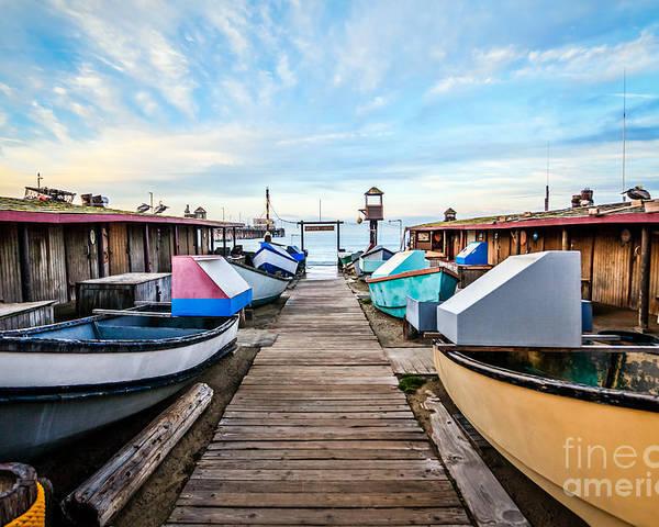 Balboa Peninsula Poster featuring the photograph Dory Fishing Fleet Newport Beach California by Paul Velgos