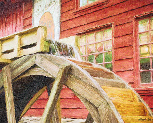 Flour Poster featuring the painting Down By The Old Mill by Jeff Kolker