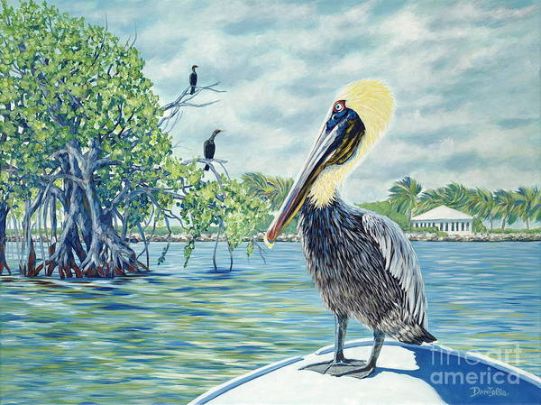 Key Largo Poster featuring the painting Down In The Keys by Danielle Perry