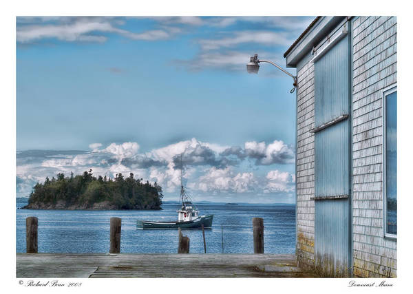 Architectural Poster featuring the photograph Downeast Maine by Richard Bean
