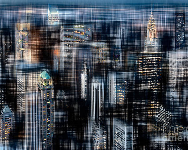 Nyc Poster featuring the photograph Downtown At Night by Hannes Cmarits