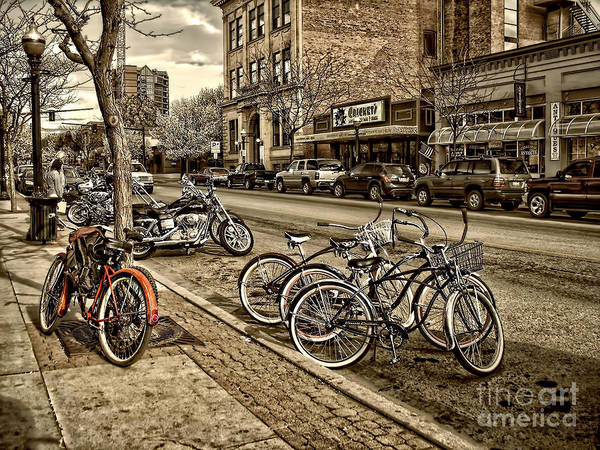 Coeur D'alene Poster featuring the photograph Downtown Coeur D'alene Idaho by Scarlett Images Photography