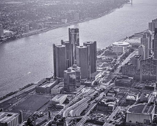 Renaissance Center Poster featuring the photograph Downtown Detroit by Nicholas Grunas