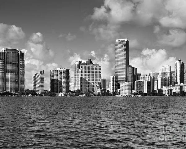 Downtown Poster featuring the photograph Downtown Miami by Eyzen M Kim