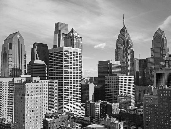 Philadelphia Poster featuring the photograph Downtown Philadelphia by Rona Black