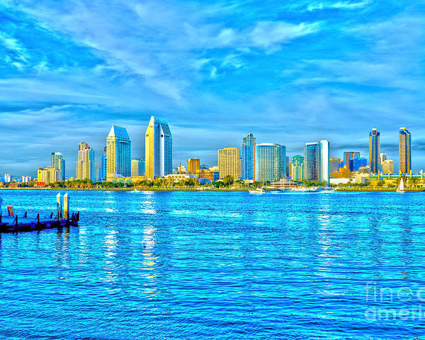 Downtown Poster featuring the photograph Downtown San Diego by Baywest Imaging