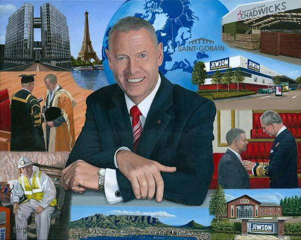 Peter Hindle Poster featuring the painting Dr Peter Hindle Mbe by Richard Harpum
