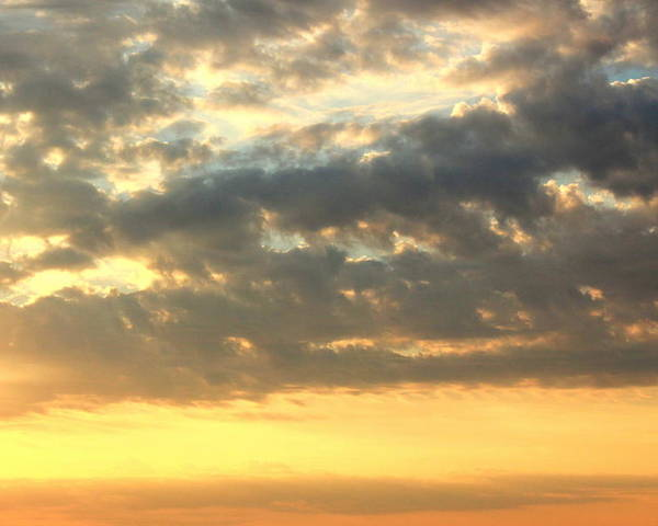 Clouds Poster featuring the photograph Dramatic Sunglow by Deborah Crew-Johnson