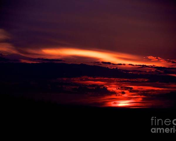 Sunset Poster featuring the photograph Drive-by Sunset by Jessica Davis