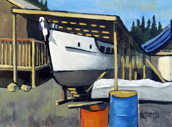 Yacht Poster featuring the painting Dry Dock by Robert Holewinski