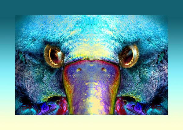 Poster featuring the digital art Duckeaglebird by Oliver Norden