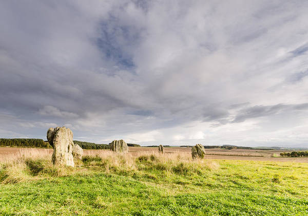 Northumberland Poster featuring the photograph Duddo Stone Circle by David Head