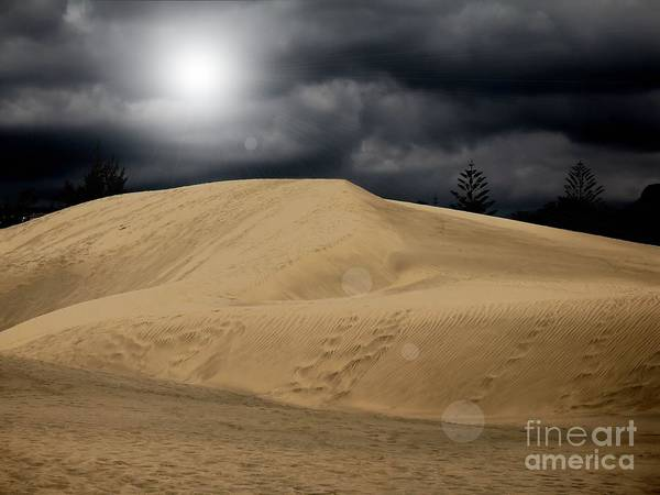 Desert Scape Photograph Poster featuring the photograph Dune by Flow Fitzgerald