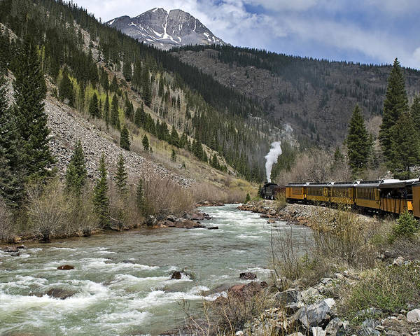 Durango Poster featuring the photograph Durango And Silverton Rr by Paul Riedinger