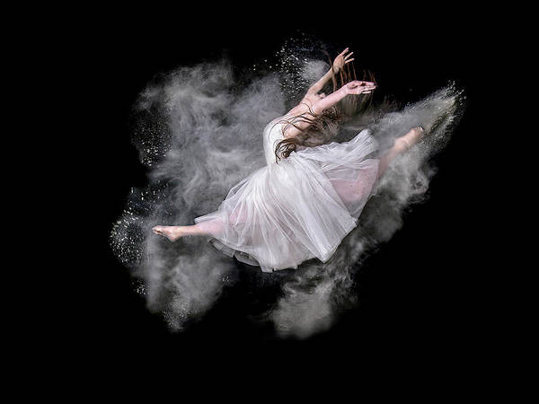 Powder Poster featuring the photograph Dust Dancer by Pauline Pentony Ma