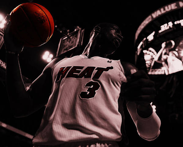 Dwyane Wade Poster featuring the digital art Dwyane Wade Ready To Go by Brian Reaves