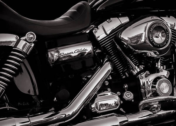 Harley Davidson Poster featuring the photograph Dyna Super Glide Custom by Bob Orsillo