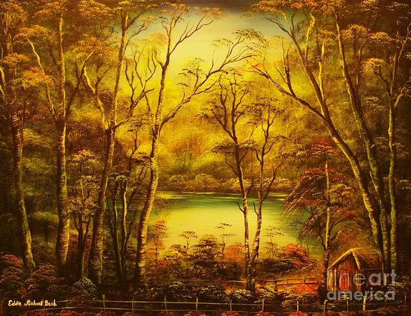 Landscape Poster featuring the painting Early Morning- Original Sold-buy Giclee Print Nr 34 Of Limited Edition Of 40 Prints by Eddie Michael Beck