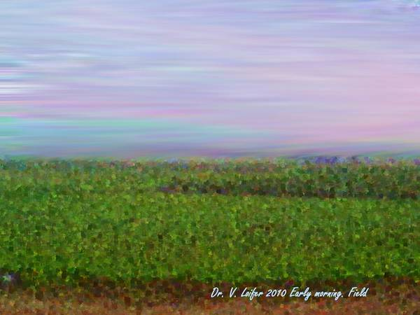Sky Morning Field Silence Wind Poster featuring the digital art Early Morning. Field by Dr Loifer Vladimir