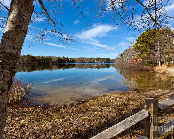 Early Spring On Long Pond Poster featuring the photograph Early Spring On Long Pond by Michelle Wiarda