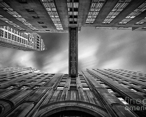 New York In Black And White Poster featuring the photograph East 24th by John Farnan