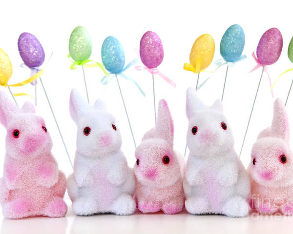 Easter Poster featuring the photograph Easter Bunny Toys by Elena Elisseeva
