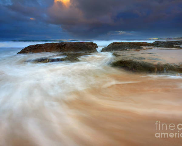 Tides Poster featuring the photograph Ebb Tide Sunrise by Mike Dawson