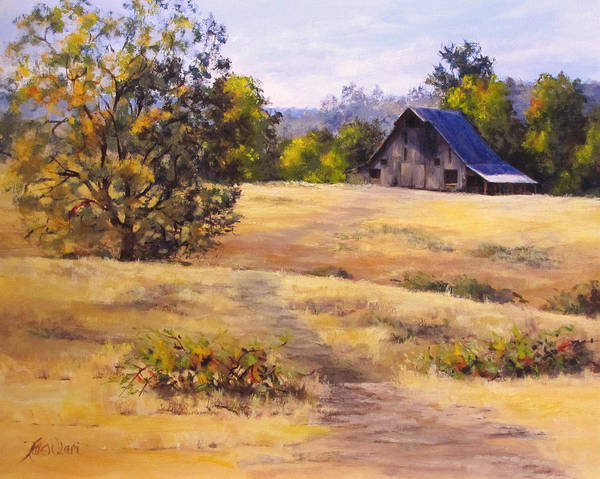 Landscape Poster featuring the painting Edge of Autumn by Karen Ilari