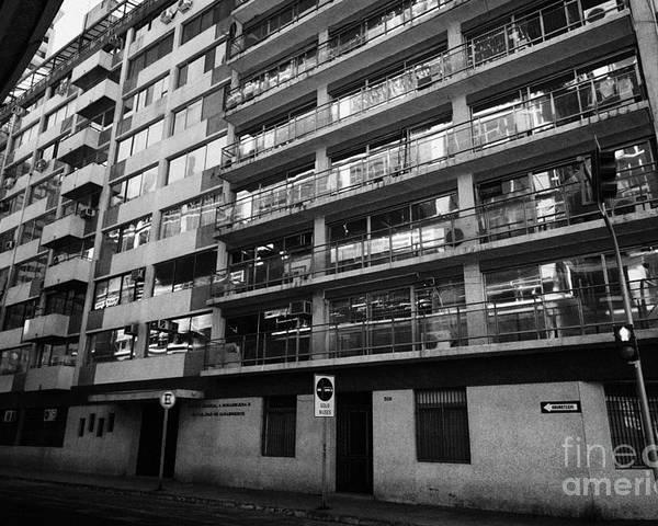 Edificio Poster featuring the photograph edificio general norambuena mutualidad de carabineros Santiago Chile by Joe Fox