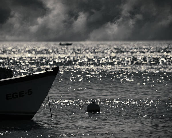 Sea Poster featuring the photograph Ege by Taylan Apukovska