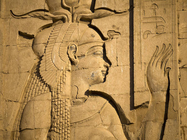 Philae Poster featuring the photograph Egyptian Queen by Brenda Kean