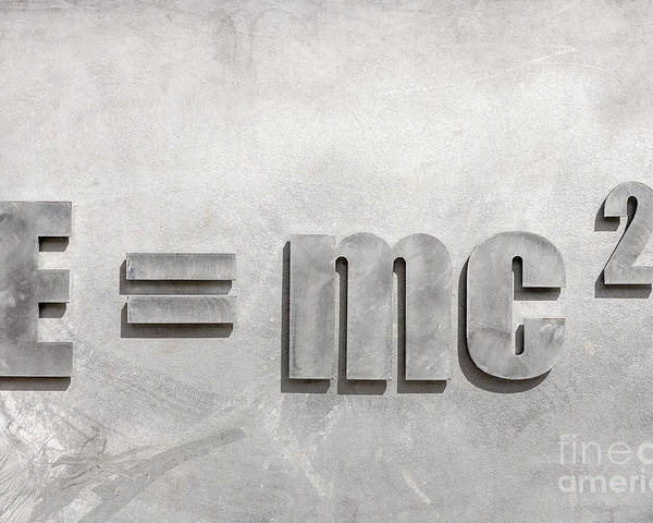 E=mc2 Poster featuring the photograph Einstein Sculpture Emc2 Canberra Australia by Colin and Linda McKie