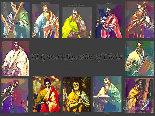 El Greco Poster featuring the digital art El Greco's Apostles Of Christ by Barbara Griffin
