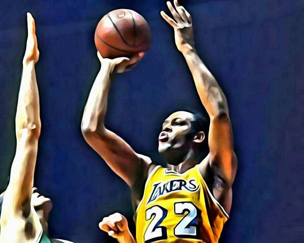 Elgin Baylor Poster featuring the painting Elgin Baylor by Florian Rodarte