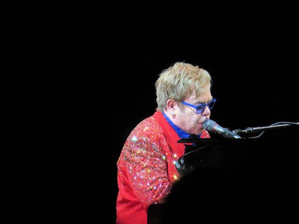 Singer Poster featuring the photograph Elton by Aaron Martens