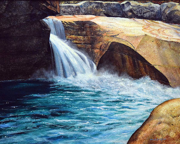 Emerald Pool Poster featuring the painting Emerald Pool by Frank Wilson