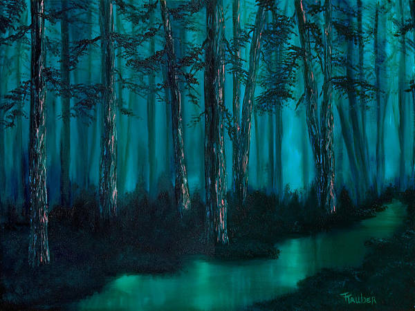 Misty Forest Poster featuring the painting Emerald Stream by Tracy Tauber