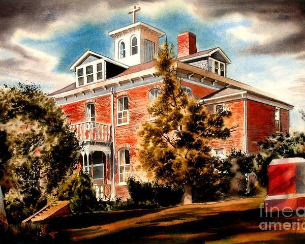 Emerson House Poster featuring the painting Emerson House by Kip DeVore
