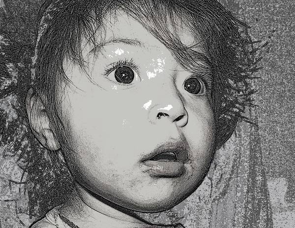 Toddler Poster featuring the photograph Emi by Eduardo Salgado
