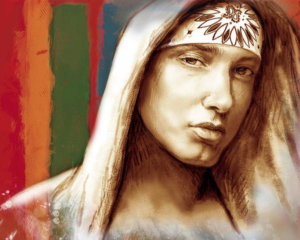 Art Drawing Sharcoal.ketch Portrait Poster featuring the drawing Eminem - Stylised Drawing Art Poster by Kim Wang