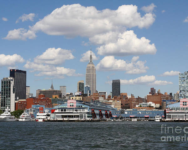 City Poster featuring the photograph Empire State From The Water by Terry Weaver