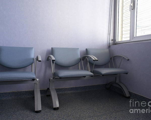 Conformity Poster featuring the photograph Empty Seats In A Waiting Room by Sami Sarkis