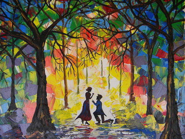 Enchanted Poster featuring the painting Enchanted Proposal by Eric Johansen